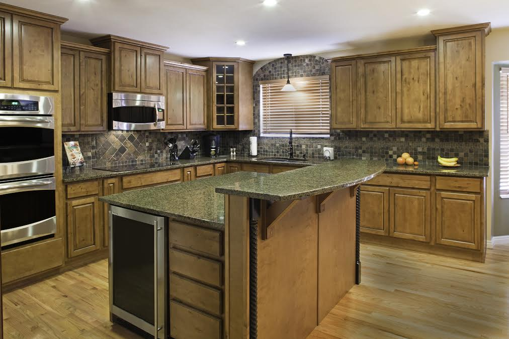 Coffee Glaze Salt Lake City Utah AWA Kitchen Cabinets