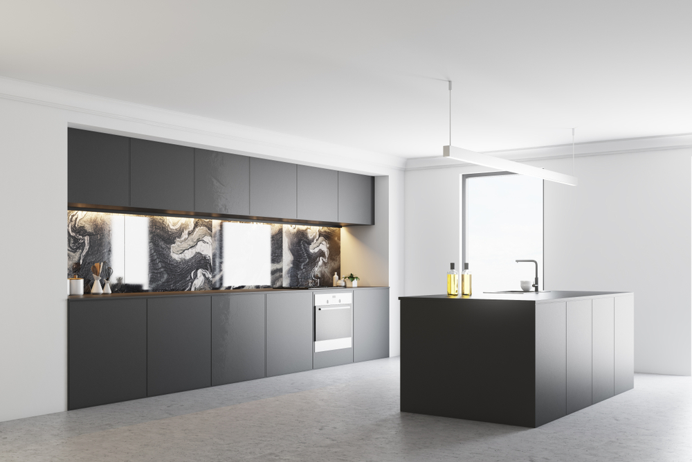 versatile gray kitchen cabinets